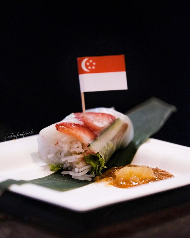 Dr Leslie Tay's Singapore Shiok Summer Roll.