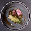 Snow-Aged Wagyu (part of 8 course omakase at $138++, with pairing of 5 wines at $198++).