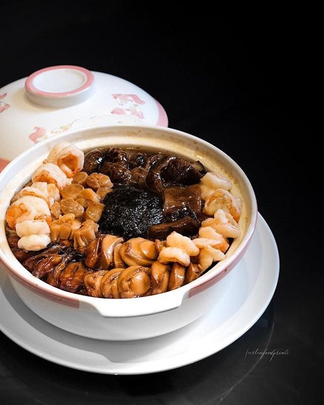 Song Garden Supreme Fortune Pot, 颂苑怀旧盆菜 ($688++ for large portion pictured).