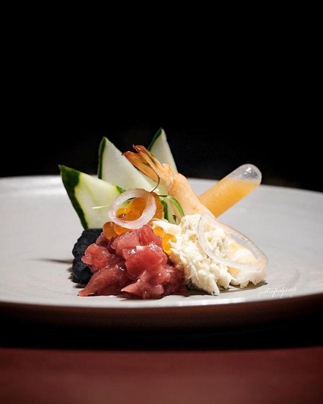 Chirashi Black Causa (part of 7 course menu at $188++).