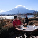 Such a lovely cafe right beside lake Kawaguchi overlooking Mount Fuji.