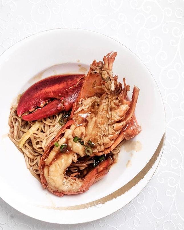 Lobster Ee Fu Noodles (included in $168++/pax CNY menu).