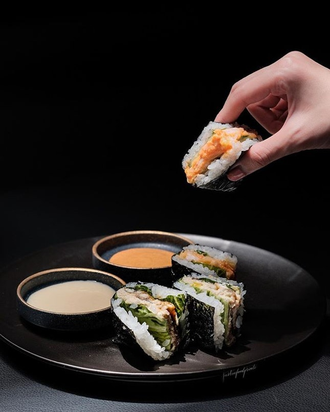 [New lunch menu] Sushi Sandwich ($12 for two pairs).