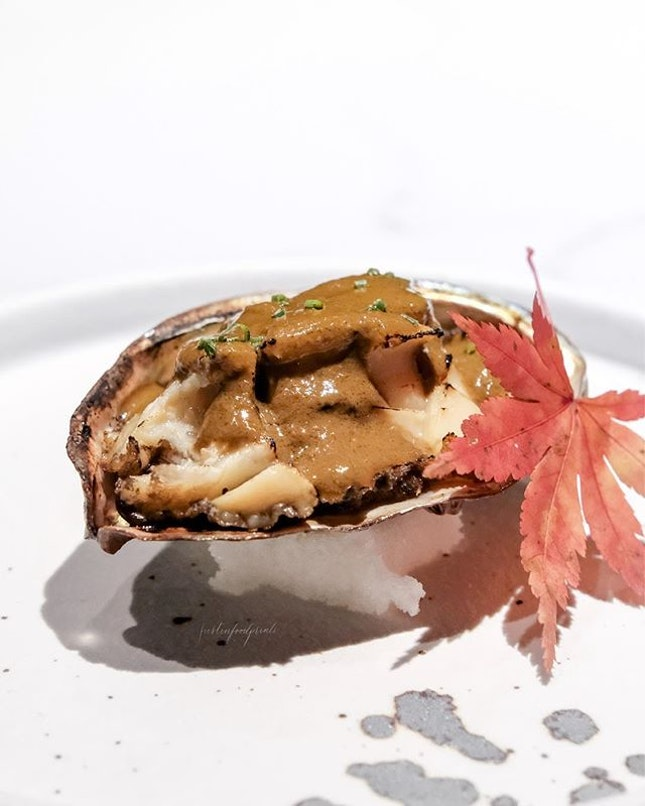 [New Restaurant of the Year Finalist, nominated by World Gourmet Summit] Awabi in Abalone Liver Sauce (part of omakase).
