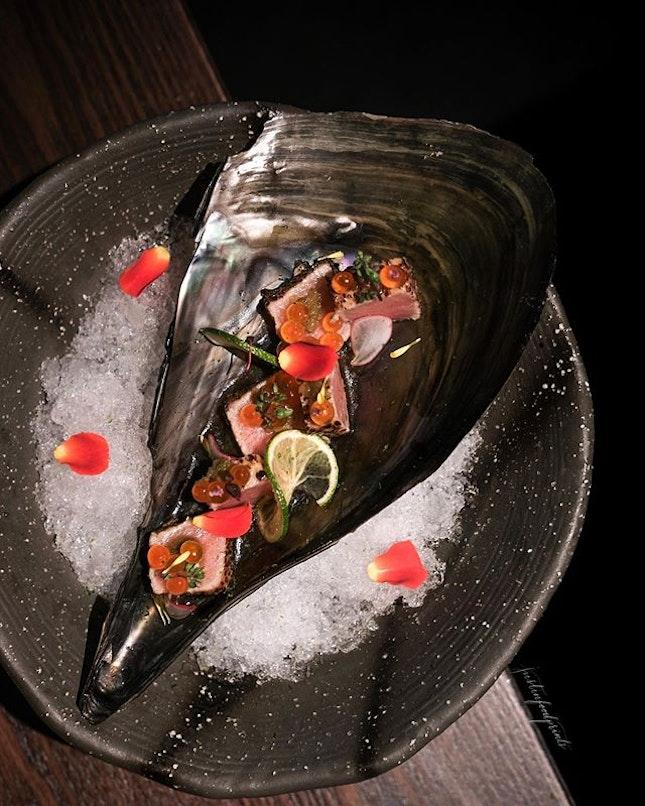 Otoro with Ikura (off-menu).