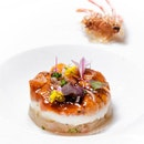 Hokkaido Sea Urchin and Botan Ebi with Lily Root ($138++/$308++ for 4 course lunch / 8 course dinner).