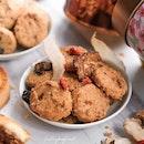 Pineapple Tarts; Herbal Chicken Cookies; and Fatt Choy Cookies.
