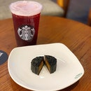 first time trying starbucks' Teavana- iced Shaken Hibiscus Tea with Pomegranate Pearls and i quite like it.