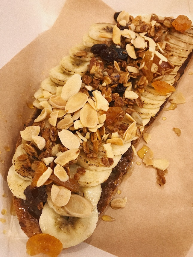 Banana & Nutella Toast ($8)