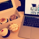 Finally Cupcake Cravings Satisfied #cupcakes #fluffbakery #burpple #missyoualot #weekend #foodtokeepmegoing