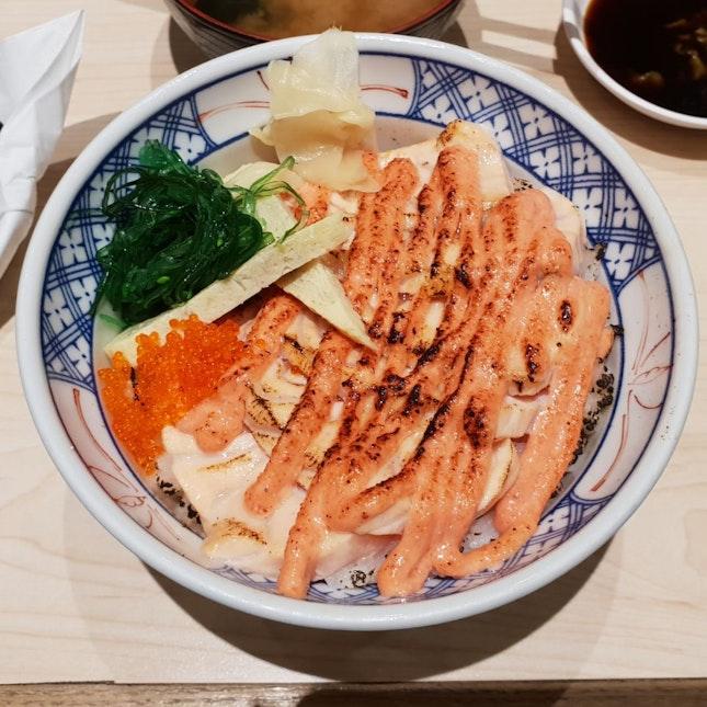 Salmon Mentaiko Donburi ($19)