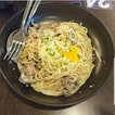 Carbonara With Onsen Egg