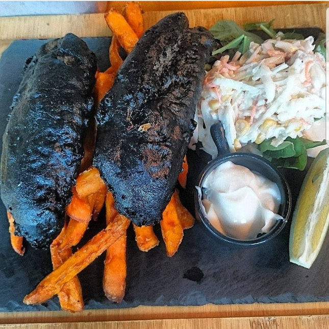 Charcoal Fish And Chips