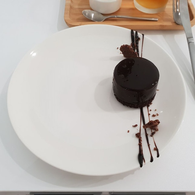 A Delightful Seasalt Dark Chocolate Entremet