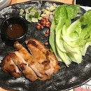 Grilled Chicken Thigh With Lettuce Wrap