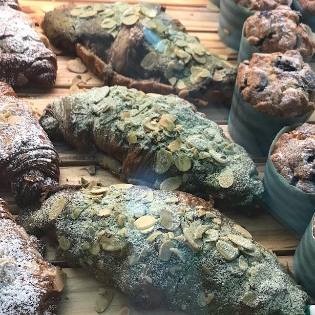 Green Tea Almond Croissant