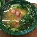 Wonton Mee Soup ($4.50)