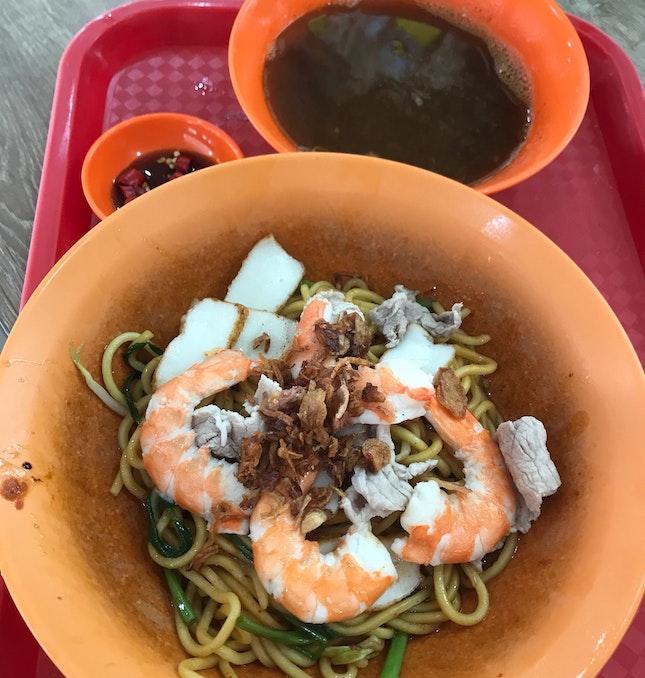 Prawn Noodles Dry ($4)