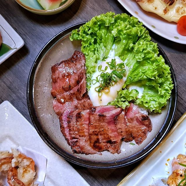 Wagyu Don (S$38.80++) Wagyu that is perfectly grilled to get a tender interior and a slightly crusty and smoky exterior served on top of Japanese rice with onsen egg.