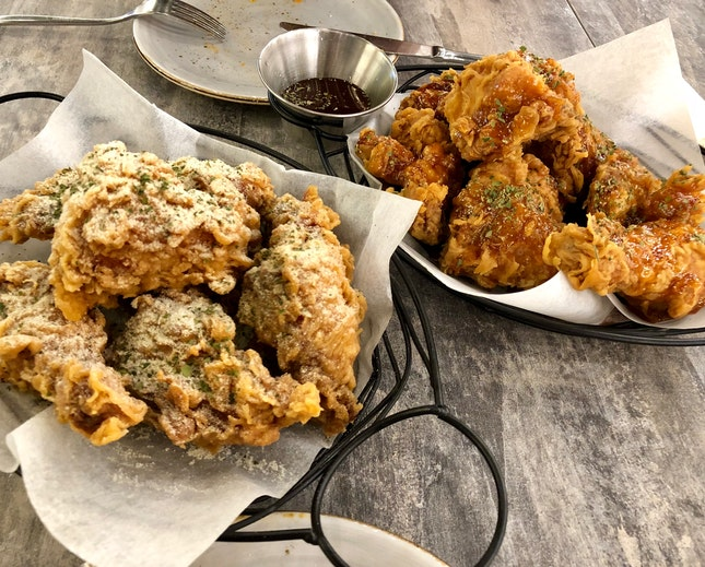 Honey Butter Coat & Garlic Soy Fried Chicken