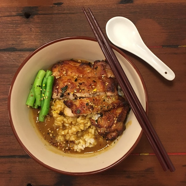 Oven-Baked Chicken Leg Japanese Curry Rice