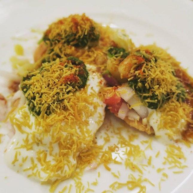 Papri Chaat - a popular Indian street food.