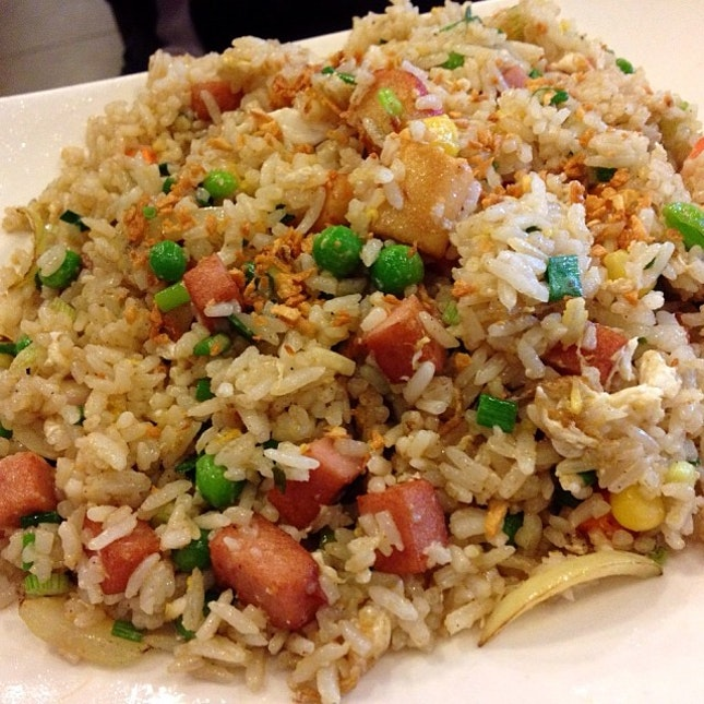 his usual garlic fried rice which never fails him before