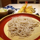 Chilled freshly made soba, perfect for the hot weather.