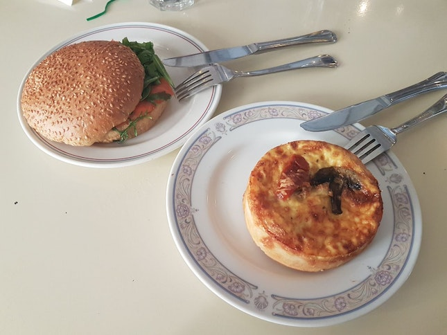 Quiche And Salmon Sandwich
