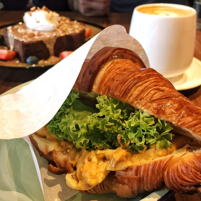 Curry Egg Mayo Croissant ($7)