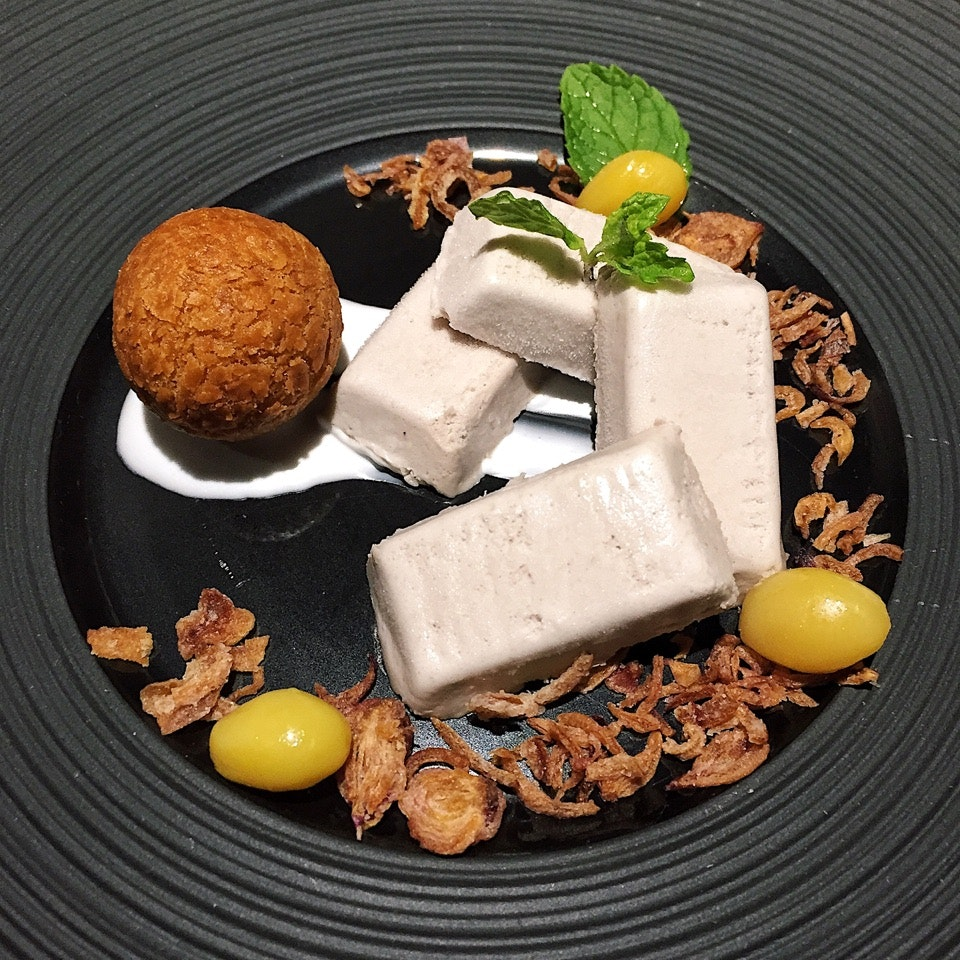 Iced Coconut Yam Parfait ($12)