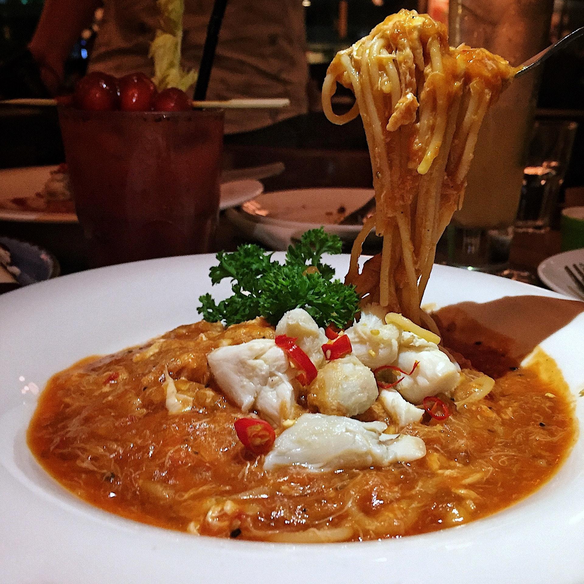 Chilli Crab Pasta 🍝 ($16/$23)