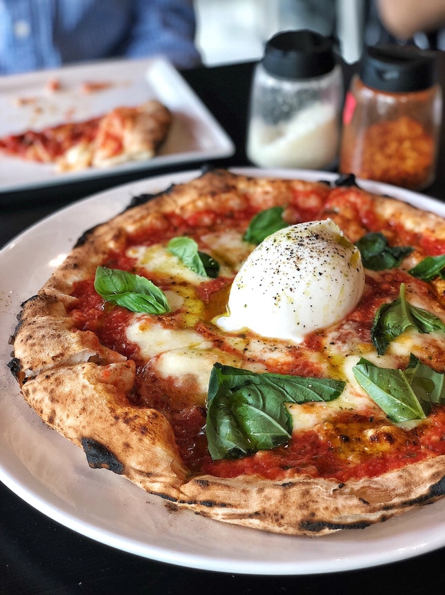 Burrata Pizza ($26)