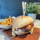 [Gorgeous Mains] Tandoori Chicken Sandwich w Smokey Sea Salt Fries ($15).