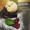 Walnut Brownie with vanilla ice-cream($7.50) @tablemannerstm ..
