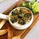 Wild Escargot ($18 set meal with main,$5 for escargot) @sanbistrosg Wild Burgundy snails, herb butter, mixed greens and toast.