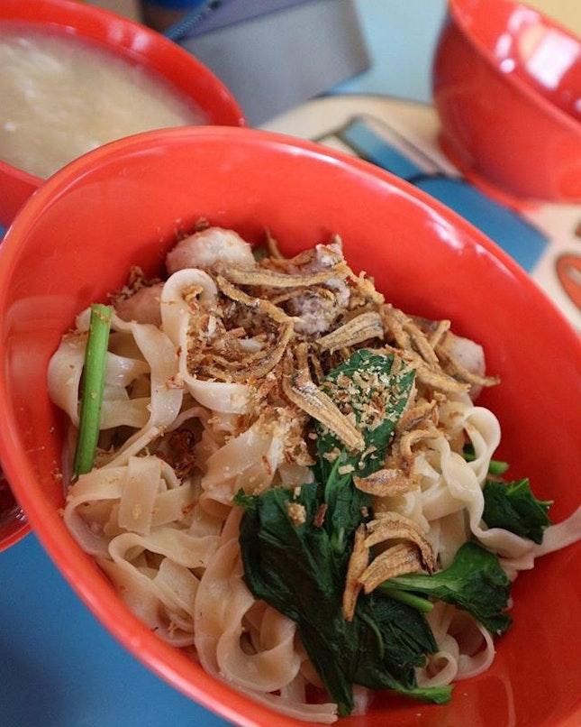 Dry Ban Mian @L32 Geylang Ban Mian.