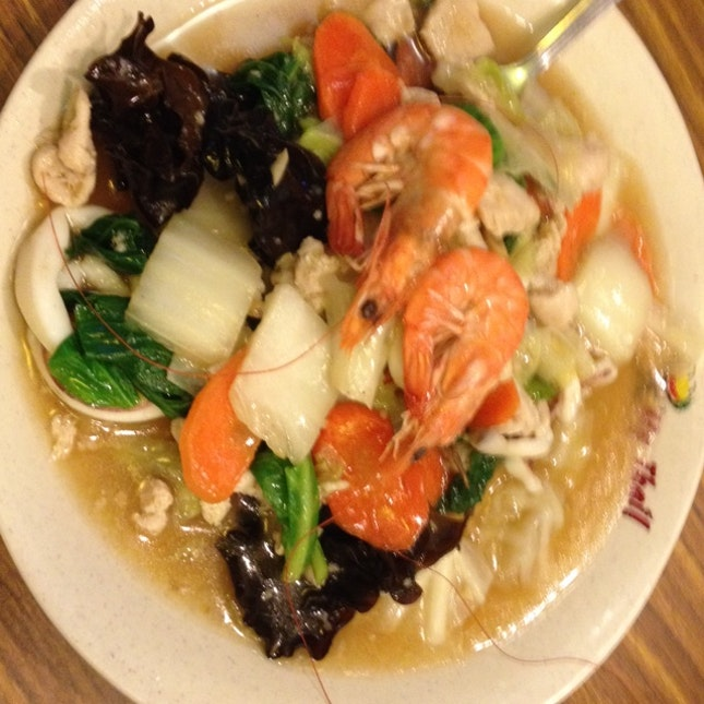 Chap Chye With Seafood