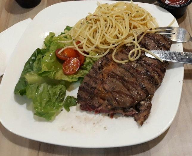 Steak With Pasta