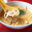 The laksa that you drink with a spoon.