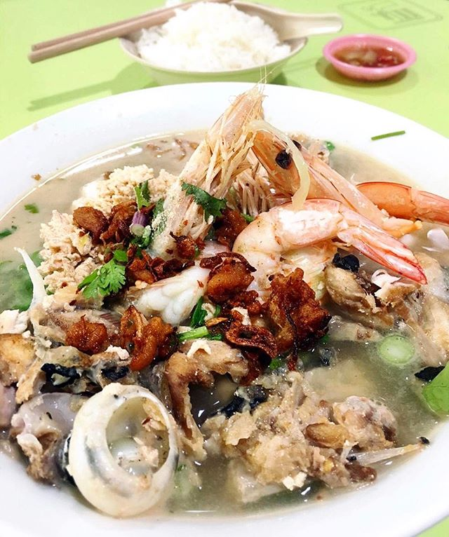 The famous fish soup from Amoy Street FC.