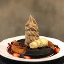 Hijicha Soft Serve With Waffles