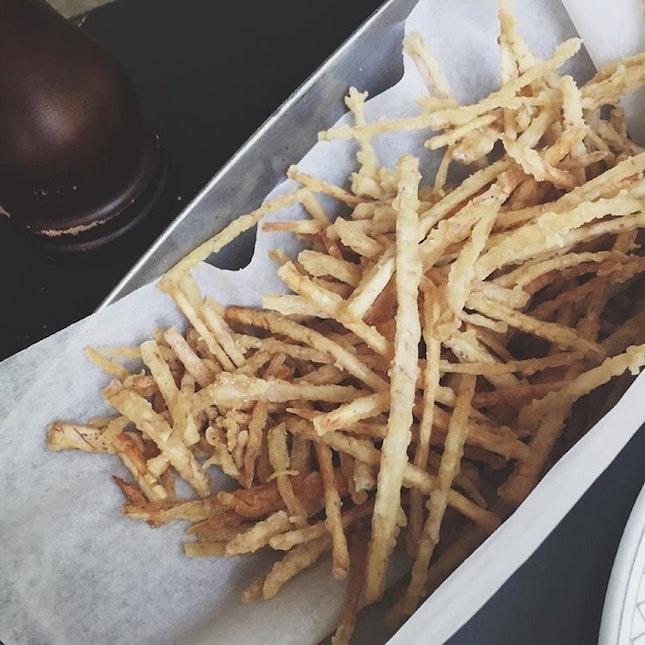 Truffle Taro Fries yesyesyes