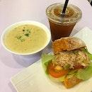 Clam Chowder + Crab Sandwich meal