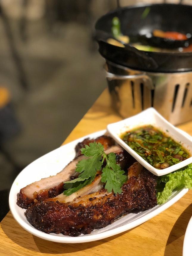Deep Fried Pork Neck with Fish Sauce