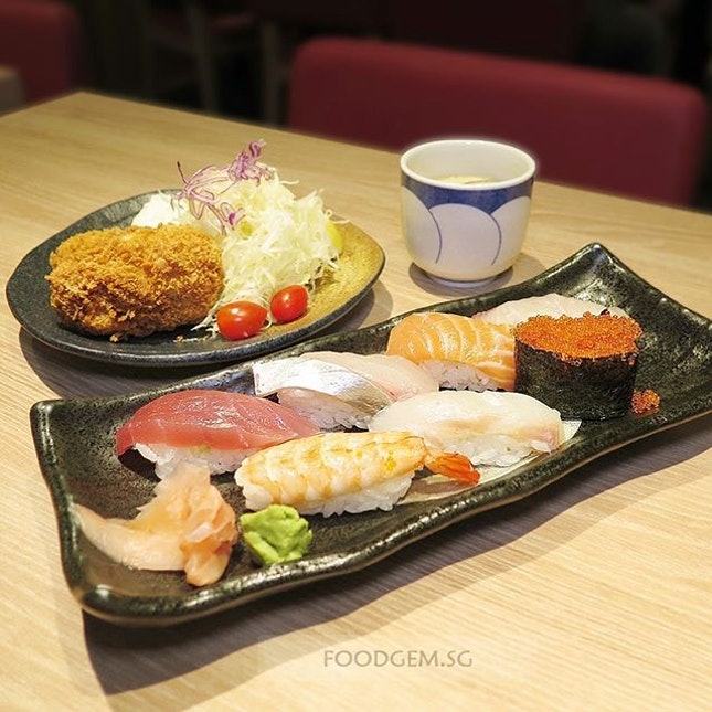 If you can't decide what to order; try Sushi & Katsu Set.
