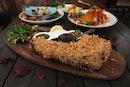 Signature Bulan Pork Tomahawk Tonkatsu 1 bone S$48.90 is a dish great for sharing up to 3 pax.