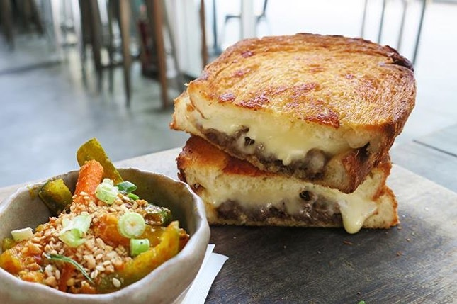 Keeping the most sinful looking dish for the last would be the Legendary Rendang Grilled Cheese.