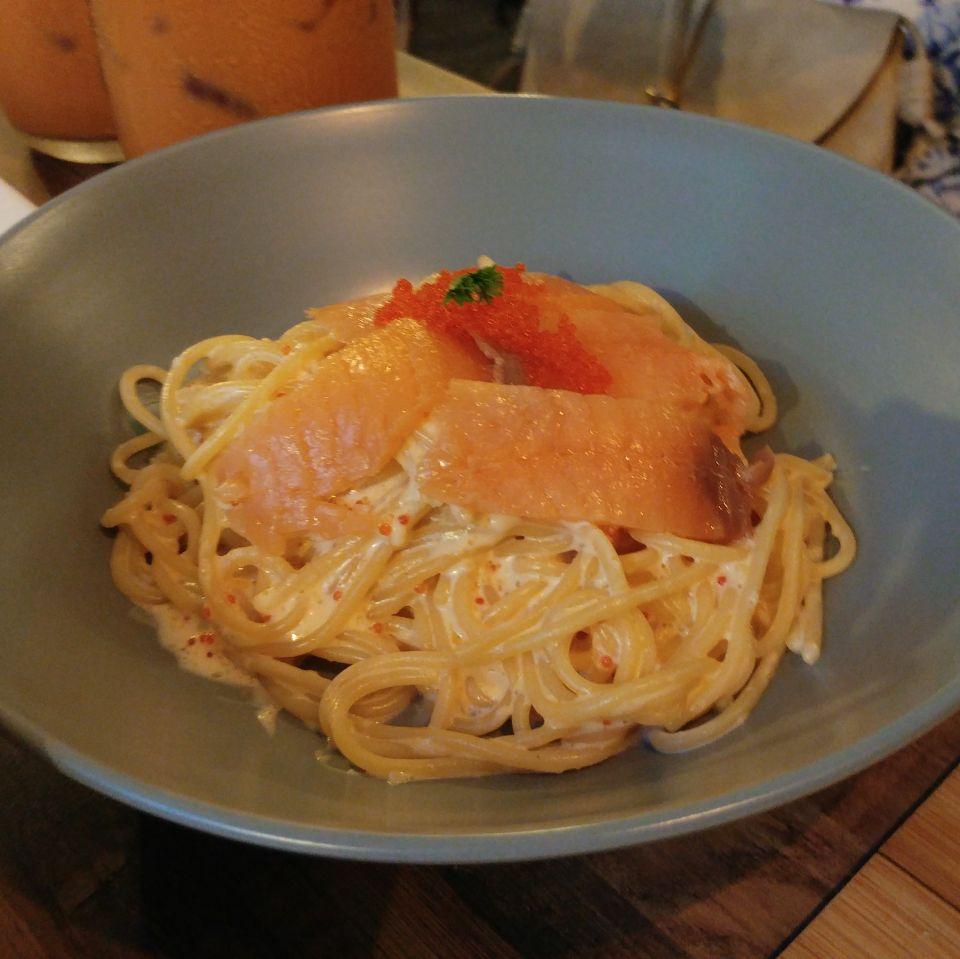 Mentaiko Pasta with Smoked Salmon