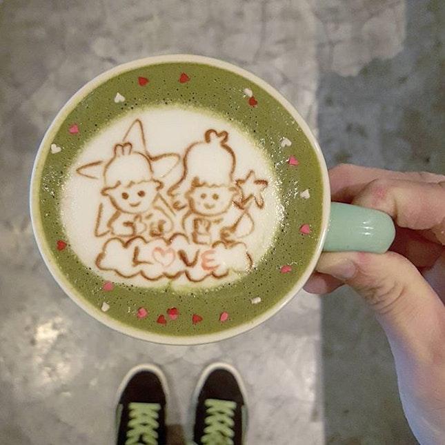 Good night #littletwinstars 😘😘 * #carolmel #carolmelcafe #carolmelcafesg #carol_mel_cafe #littletwinstars #latteart  #burpple  #podcult #hobikopi  #anakkopi #latteartist #baristadaily #coffeeuniverse #manmakecoffee #thecoffeefusion #thecoffeestation #alternativebrewing #masfotokopi #mbakfotokopi #latteartgram #videomasak  #coffeegical #madaboutbrew #freepouring